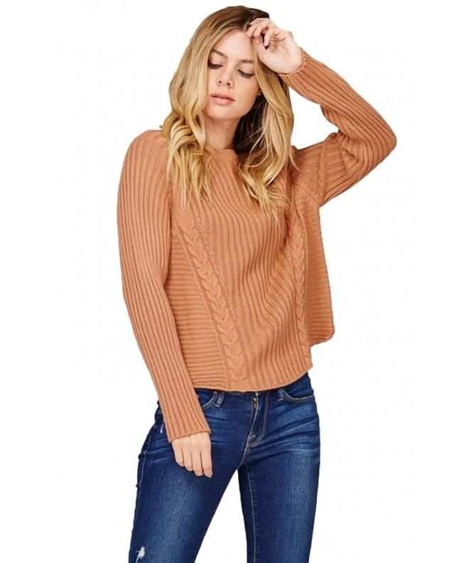 BodiLove Womens Pullover Oversize Sweater