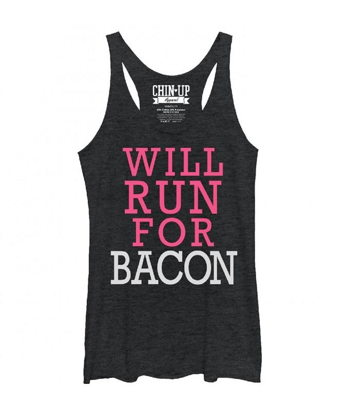 Womens Bacon Black Heather Racerback