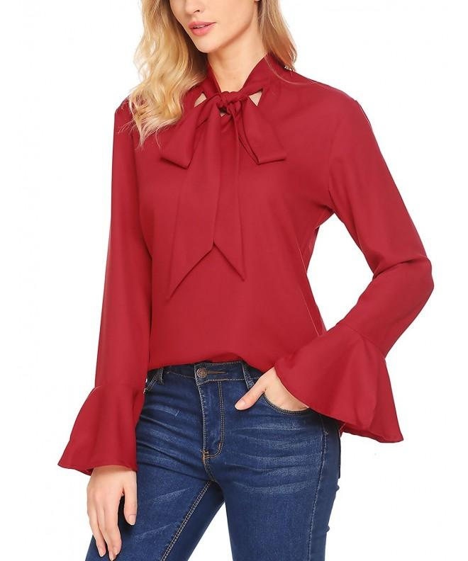 Gumod Womens Blouse Sleeve Chiffon