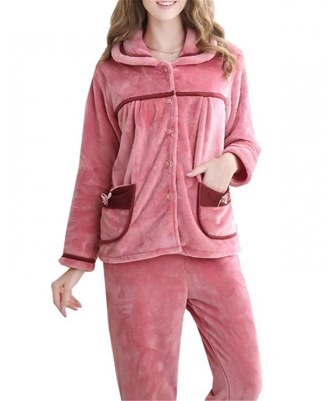 Betusline Flannel Sleepwear Tracksuit Pajamas