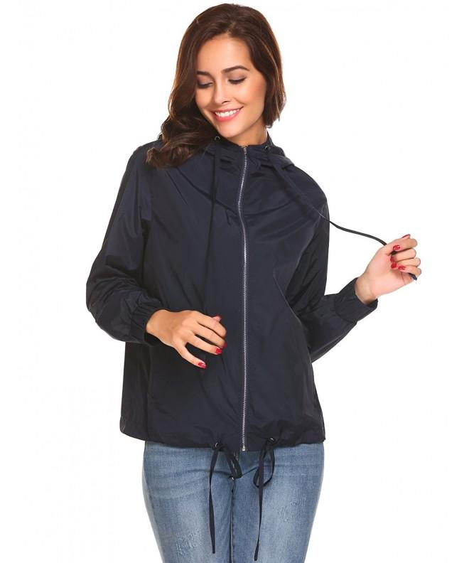 Womens Lightweight Waterproof Jacket Drawstring