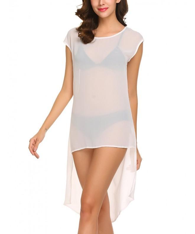 Yitrend Womens Chiffon Swimwear T Shirt