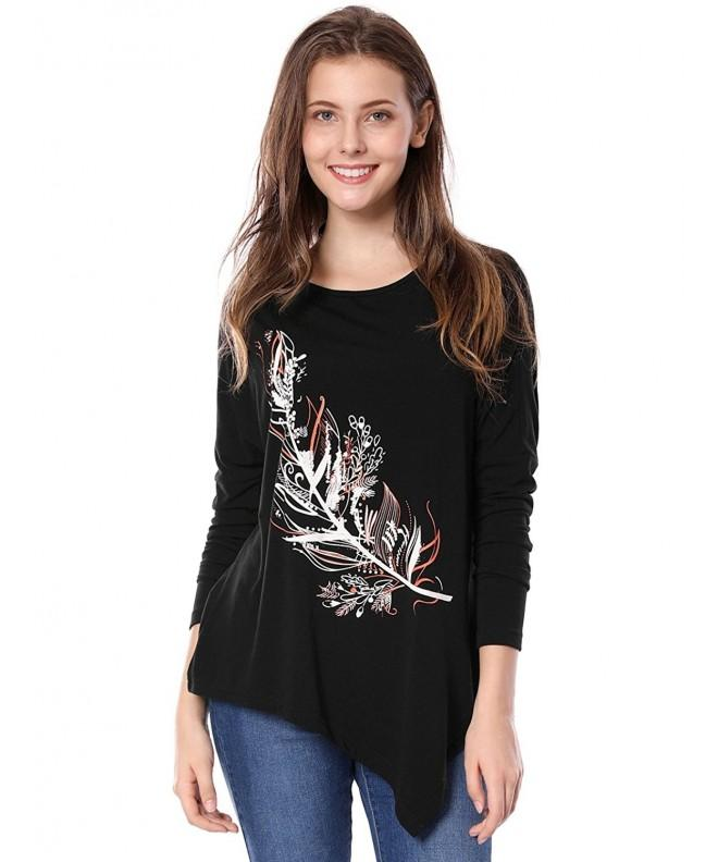 Allegra Womens Asymmetric Shoulder Feather