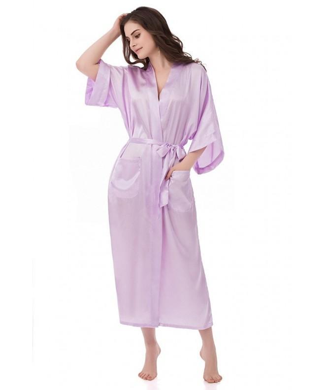 gusuqing Womens Sleepwear Kimono Lavender