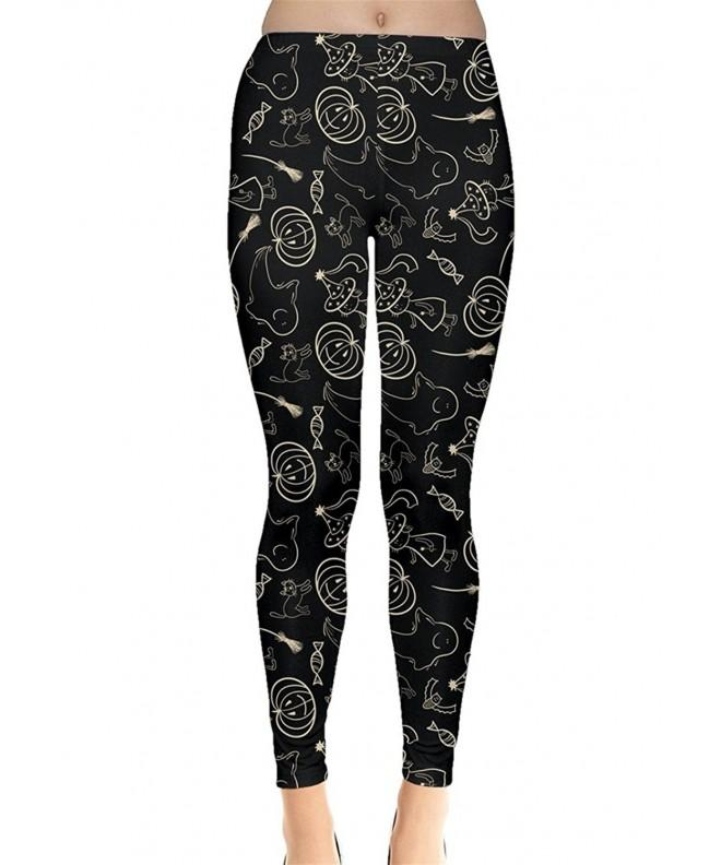 CowCow Womens Halloween Pumpkin Leggings