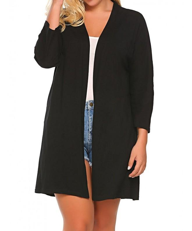 Involand Womens Sleeve Classic Cardigan