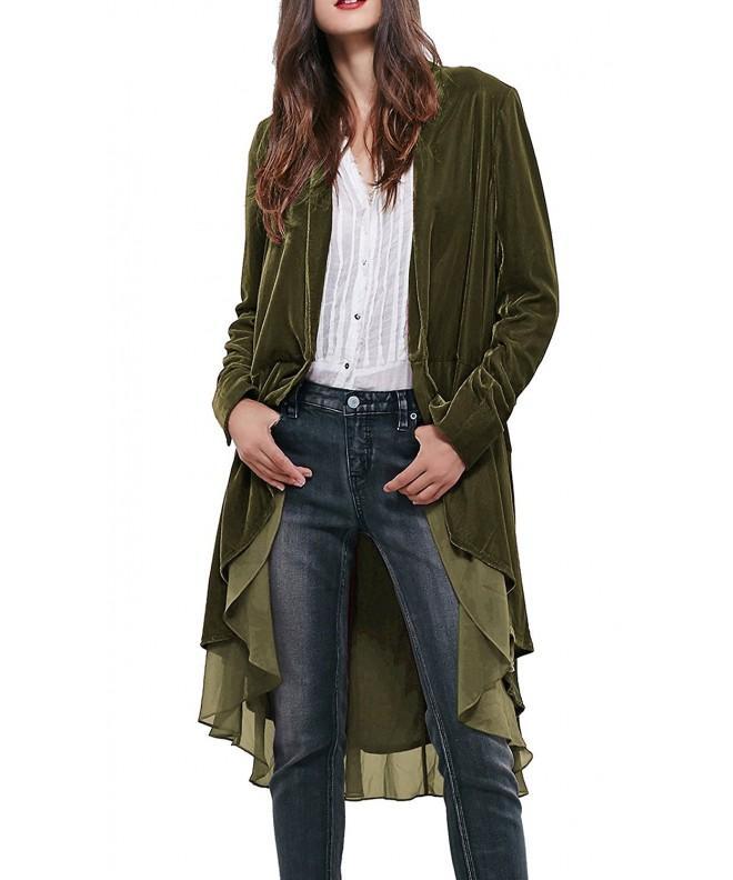 R Vivimos Ruffled Asymmetric Blazers Jackets