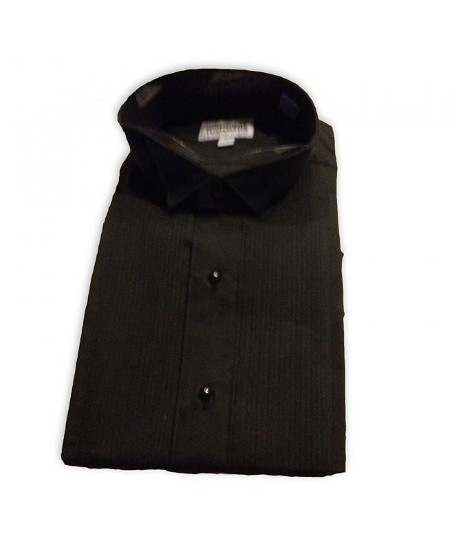 Broadway Tuxmakers Collar Pintuck Pleats