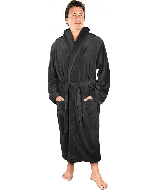 NY Threads Fleece Hooded Bathrobe