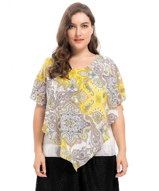 Chicwe Womens Lining Layered Blouse
