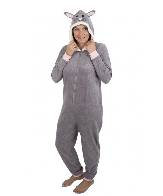 Womens weight fleece onesie Rabbit S