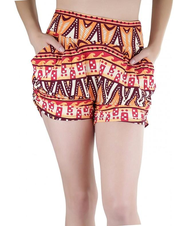 ToBeInStyle Womens Print Harem Shorts