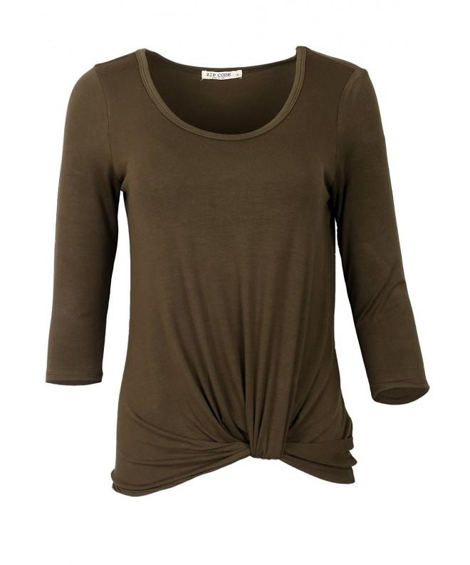 Round Sleeve Tunice Blouse Front