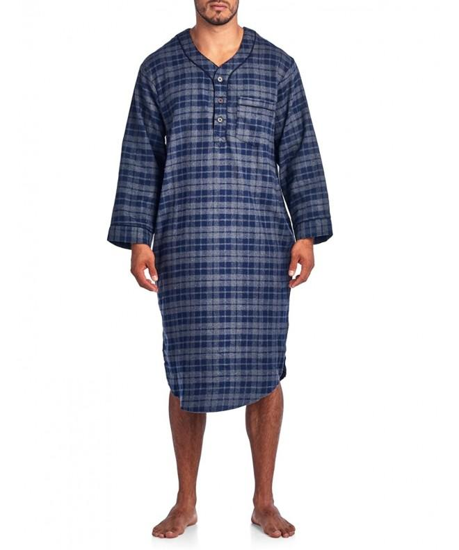 Ashford Brooks Flannel Henley Nightshirt