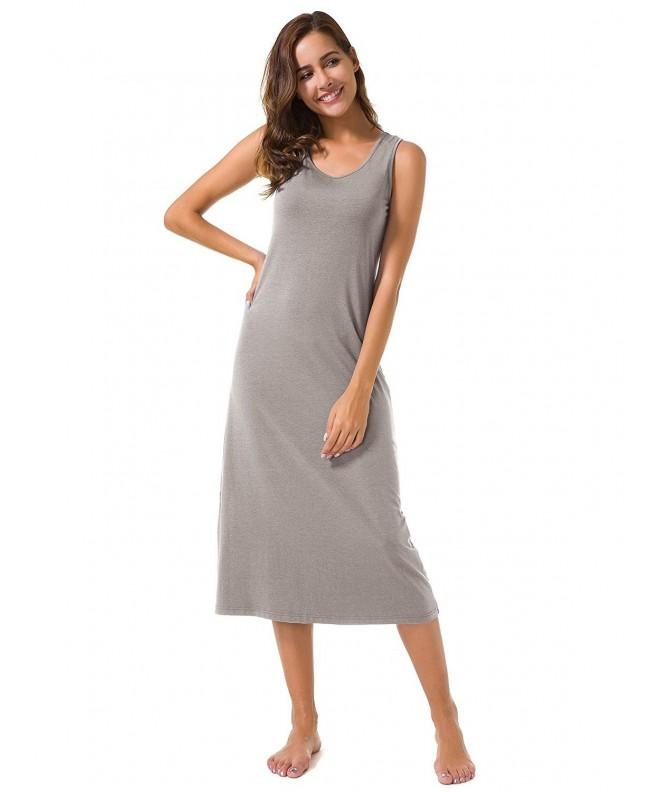 SIORO Sleeveless Racerback Nightgown Nightshirt