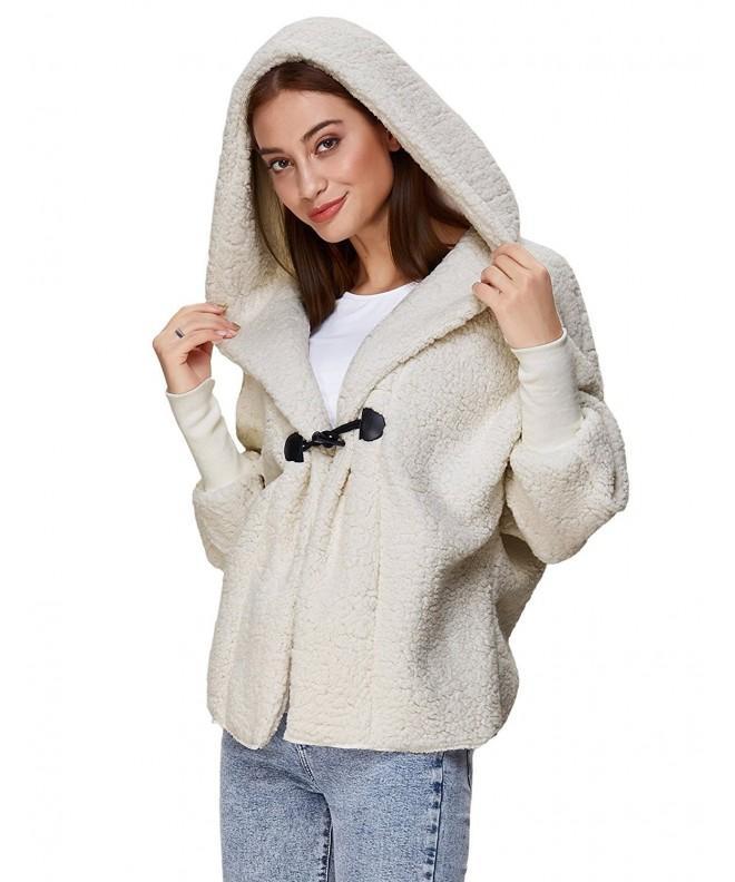 Womens Shearling Hoodie Fleece Casual