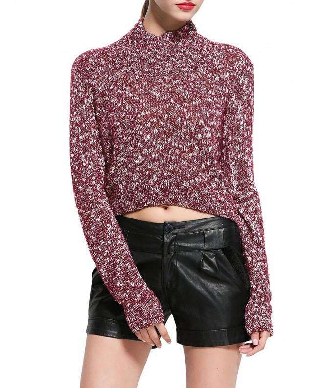 Rocorose Womens Mock Marled Sweater