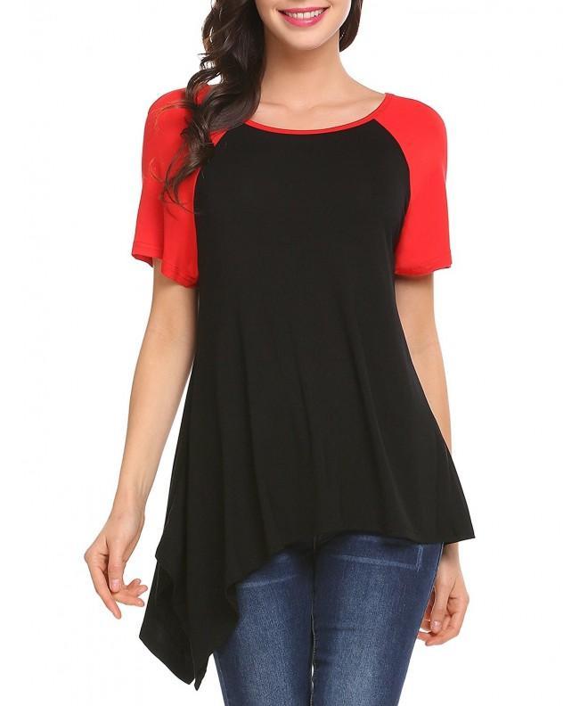 Mofavor Womens Causal Raglan T Shirt