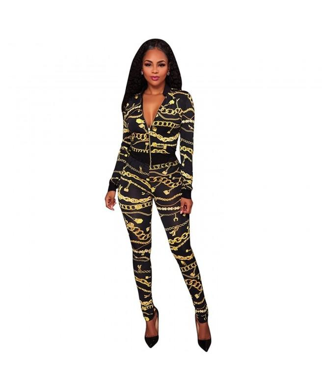 Outfits Floral Bodycon Stretch Sweatsuits