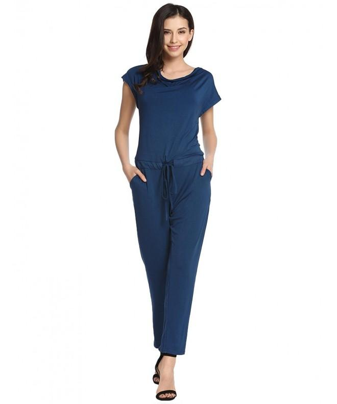 Zeagoo Womens Fashion Waisted Jumpsuit