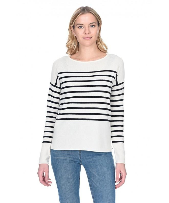 State Cashmere Striped Crewneck Sweater