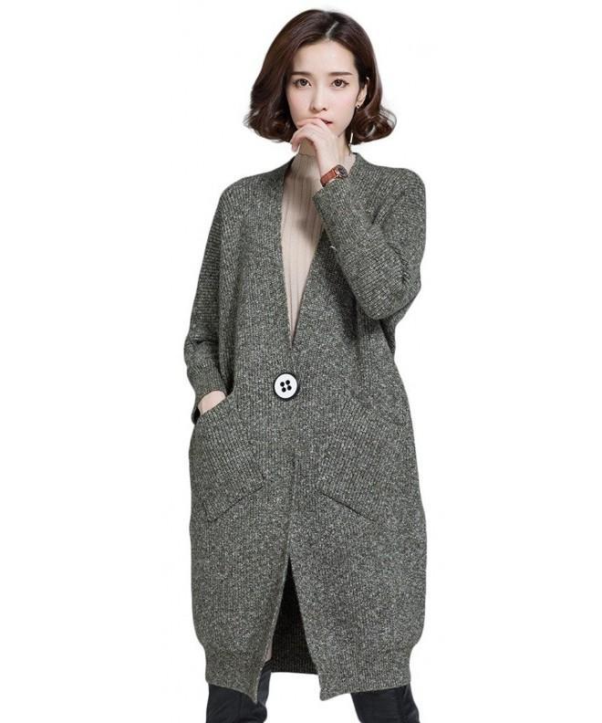 KUBITU Classic Cardigan Sweater Celadon