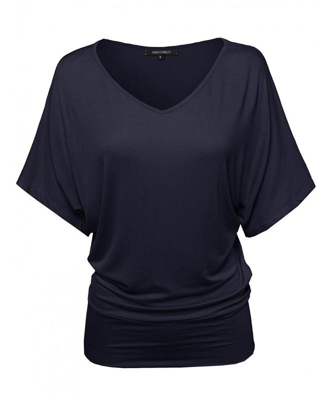Awesome21 Basic V neck Loose T shirt