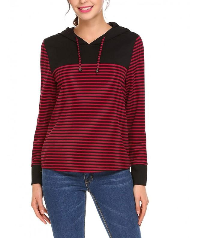 Bulges Womens Striped Pullover Sweatshirt