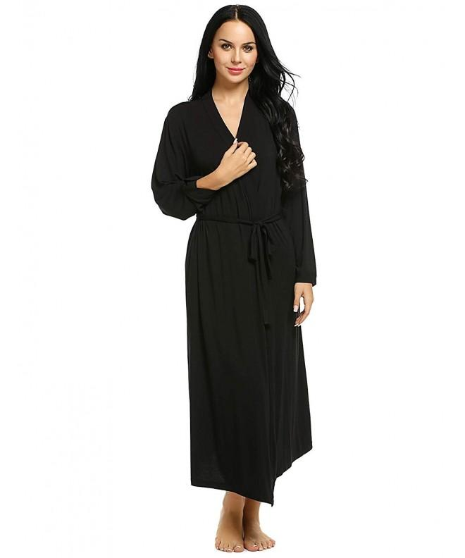 Ekouaer Womens Bathrobe Viscose Sleepwear