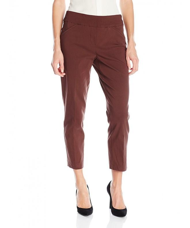 Alfred Dunner Womens Stretch Chocolate