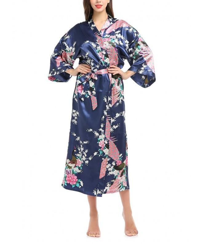 missfashion Printed Blossoms Sleepwear Blue