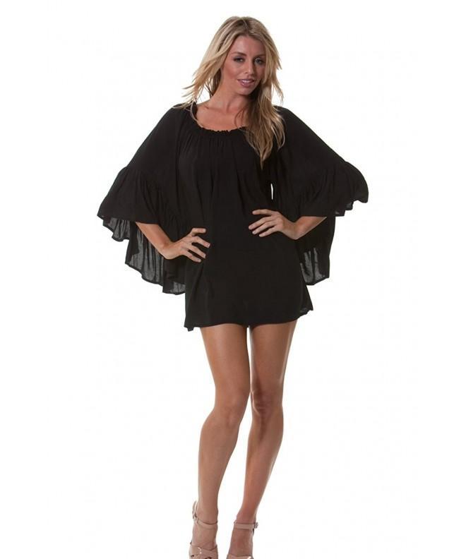 Peasant Style Shoulder Shirt Dress