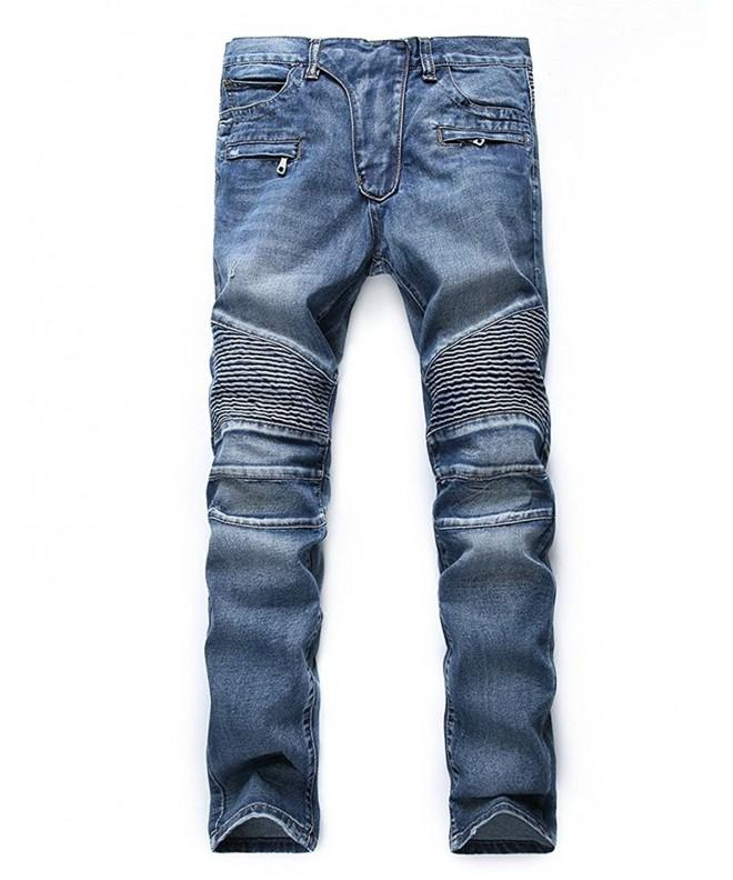 Upreface Distressed Destroyed Zipper Biker