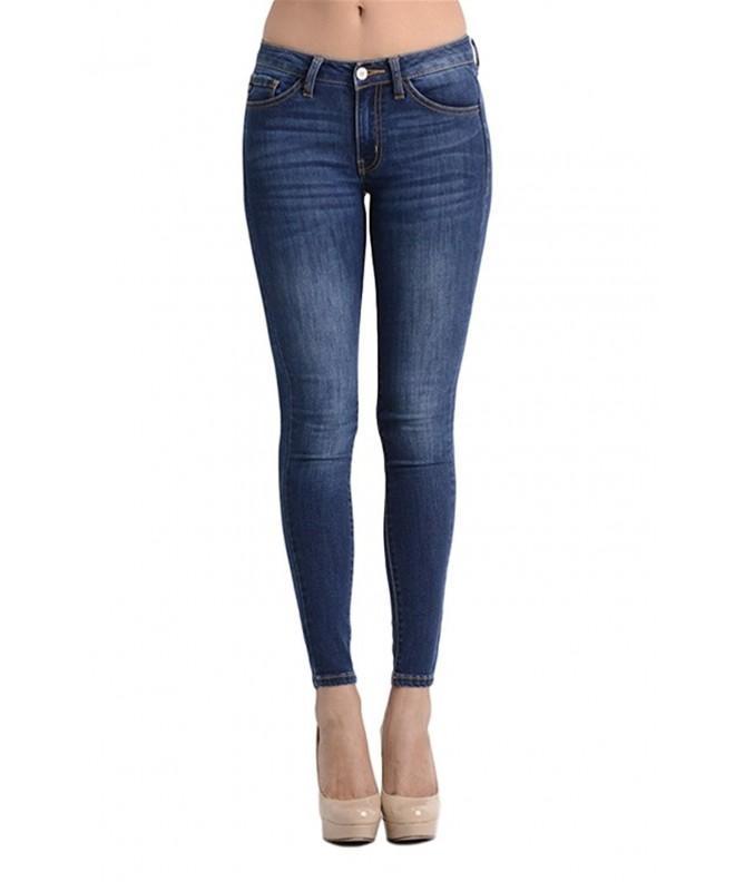 Kan Womens Skinny Jeans Dark