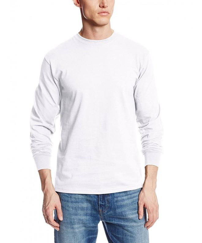 Soffe Long Sleeve Cotton T Shirt White